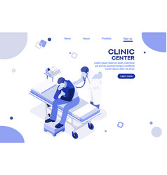 health collection clinic center vector image