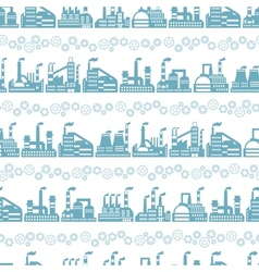 Industrial factory buildings seamless pattern vector image