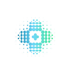 isolated cross icon abstract assistance vector image