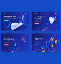 Isometric business concept you can start vector