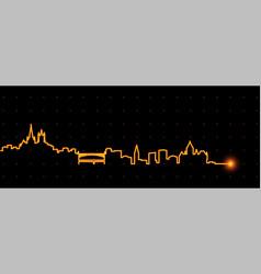 Lausanne light streak skyline vector