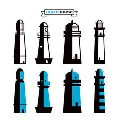 Lighthouse badges vector