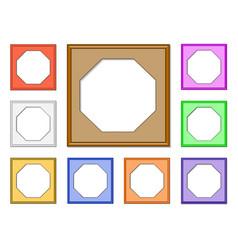 modern frame-octagon01 vector image