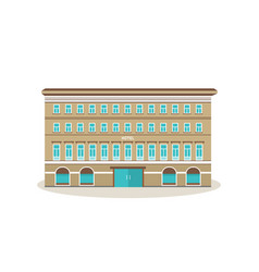 modern hotel with surroundings parks vector image