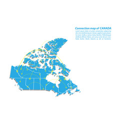 modern of canada map connections network design vector image