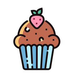 Muffin linecolor vector