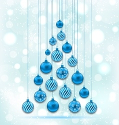 New Year Abstract Tree made in Hanging Balls vector