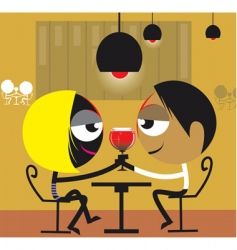 partying couple vector image