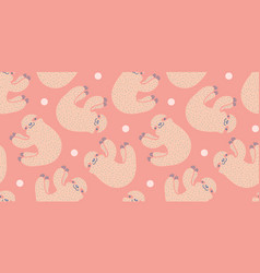 Pattern with sloth vector