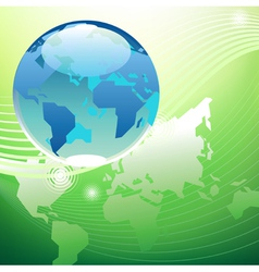 Planet green world concept vector image