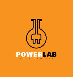 Power lab logo vector