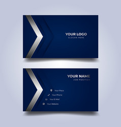 print business card template vector image