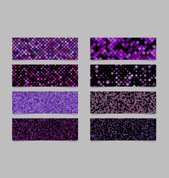 Purple modern diagonal rounded square pattern vector