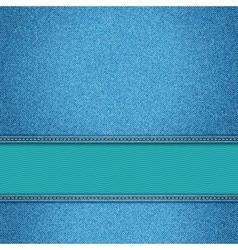 Realistic denim background vector