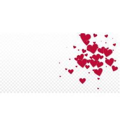 Red heart love confettis valentines day explosio vector