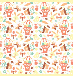 Retro easter pattern vector