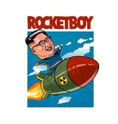 rocketboy vector image