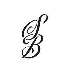 S b tattoo letter design vector