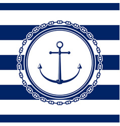 sea emblem with anchor vector image