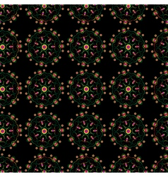 Seamless elegant lace rainbow pattern vector image