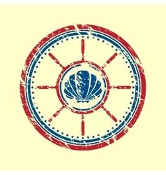 Shell symbol grunge vector image