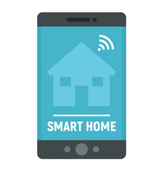 smart home phone control icon flat style vector image