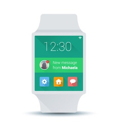 Smart watch concept with simple user interface vector