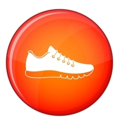Sneakers icon flat style vector image vector image