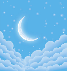 Soft starry moonlit night vector