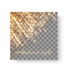 Square background with radiant light vector