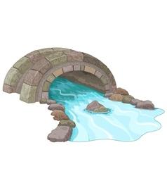 Stone bridge vector