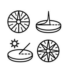 sundial icon set vector image