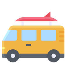 surf van icon summer vacation related vector image