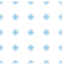 Target icon pattern seamless white background vector