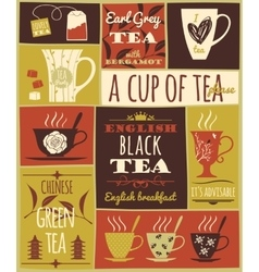 Tea collection vector image
