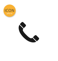 telephone or phone icon isolated flat style vector image