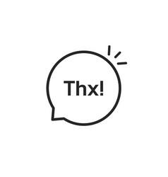 thx black linear minimal bubble vector image