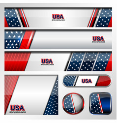 Usa color background vector