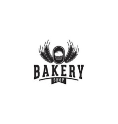 vintage bakery logo designs inspiration isolated vector image