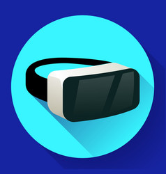 vr glasses icon or virtual reality helmet icon vector image