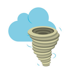 Weather cloud and twister cartoon vector