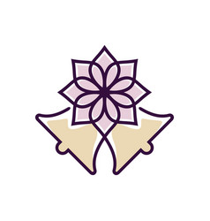Wedding flower vector