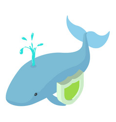 Whale icon isometric style vector