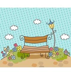 Cartoon Park Bench vector image vector image