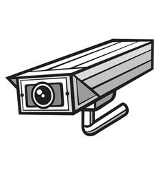 Outdoor security camera vector image vector image