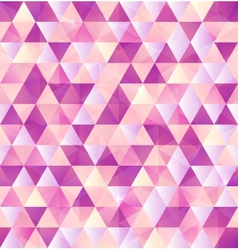 Pink abstract triangle vintage background vector image vector image
