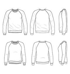 Raglan sweatshirt vector image