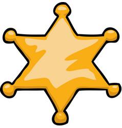 cartoon doodle star sheriff vector image