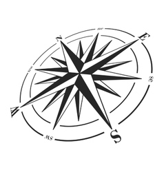 Compass rose isolated on white vector image vector image