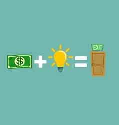 Money plus ideas equals exit vector